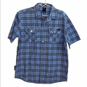 Enyce Plaid Blue Button Down Shirt Size XL